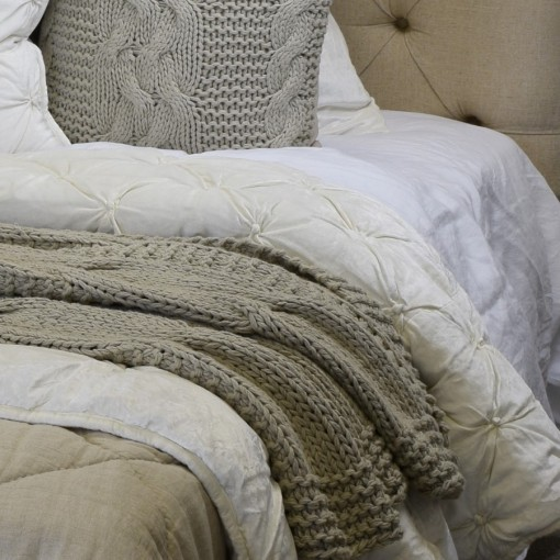 Cotton Chunky Knit Bed Throw
